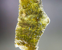 Certified Moldavite with open bubble and Olive green color