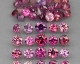50Pcs / 4.49Ct. Round Diamond Cut 1.7-3 mm.UNHEATED! Fancy Color Sapphire