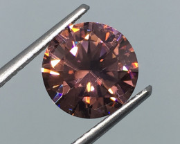 3.50 Carat VVS Zircon Master Cut Peachy Pink Out of This World Quality !