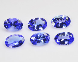 Tanzanite 3.69 Cts 6 pcs Amazing rare AAA Violet Blue Color Natural Gemston