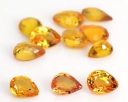 *No Reserve* Orange Sapphire 2.01 Cts 11 Pcs  Fancy Natural Loose Gemstone