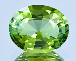 5.47 ct Bi colors Apple Green Tourmaline Gemstone