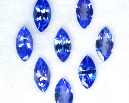2.16 Cts Natural Purple Blue Tanzanite 6x3mm Marquise 8Pcs Tanzania