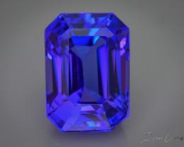 4.19 ct D'Block Color Tanzanite AAA Cut, Clarity & Color