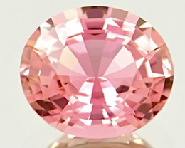 3.69 ct Padparadscha Colors  Tourmaline With Excellent Luster Gemstone