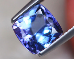 1.71ct Natural Violet Blue Tanzanite Cushion Cut Lot B3001