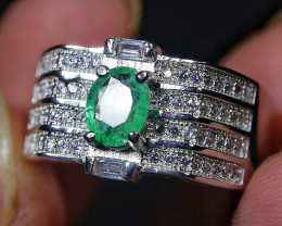 22.95 CT Beautiful Emerald Ring Jewelry