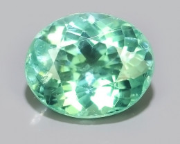 1.10 Cts Madagascar_Natural_Bottle Green Hue Oval Cut_Apatite!!