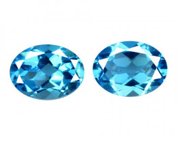 Topaz 3.10 Cts 2 Pcs Blue Natural Gemstone