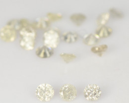 Diamond 0.52 Cts 22 Pcs Untreated Fancy White Color Natural Loose