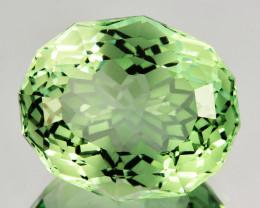 ~CUSTOM CUT~ 5.72 Cts Natural Prasiolite / Amethyst Fancy Oval Brazil