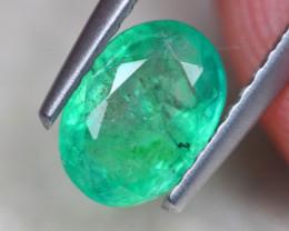 0.98ct Natural Zambia Green Emerald Oval Cut Lot V8660