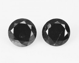 *NoReserve* Diamond 0.21 Cts 2 Pcs Amazing Rare Fancy Black Color Natural L