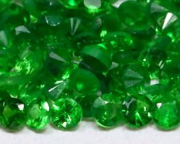 2.10Ct Calibrate 1.6mm Natural Green Color Tsavorite Garnet Lot B0309