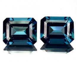 ~EMERALD CUT~ 6.99 Cts Natural Blue Topaz 10x8mm Brazil