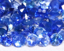 2.78Ct Calibrate 1.9mm Round Natural Blue Color Sapphire Lot A2403