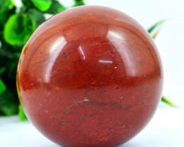 Genuine 950.00 Cts Red Jasper  Healing Ball Hand Carved Tortoise Carving