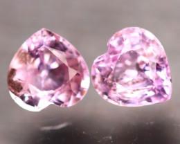 Unheated Sapphire 1.34Ct 2Pcs Natural Heart Shape Pink Sapphire E2101/B32