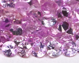 3.68Ct Round 2.2mm Natural Untreated Pink Color Sapphire Lot C2513