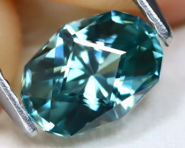 Blue Zircon 1.80Ct VVS Master Cut Natural Cambodian Blue Zircon C2516