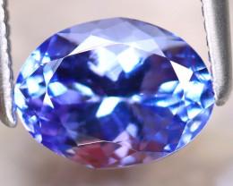 Tanzanite 1.62Ct Natural VVS Purplish Blue Tanzanite D2215/D4