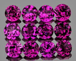 3.00 mm Round 12 pcs 1.80cts Purple Rhodolite [VVS]