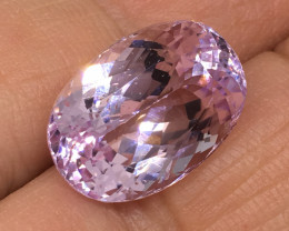 12.85 Carat Kunzite Soft Pink Precision Cut and Polished to Perfection !