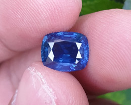 UNHEATED CERTIFIED 3.21 CTS TOP QUALITY(RARE FROM THIS MINE) CORNFLOWER BLU