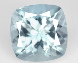 Aquamarine 1.53 Cts Un Heated  Blue  Natural Loose Gemstone