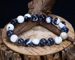 161.15Ct Natural Howlite Beads Bracelet C2607