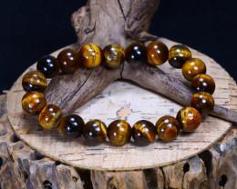 155.25Ct Natural Tiger Eye Beads Bracelet C2608