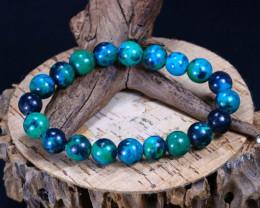 136.10Ct Natural Chrysocolla Beads Bracelet C2610
