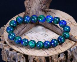 139.30Ct Natural Azurite Beads Bracelet C2618