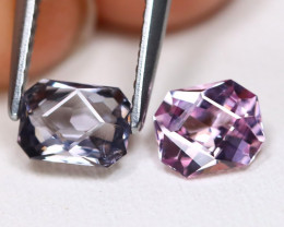 Spinel 1.53Ct 2Pcs Master Cut Natural Burmese Pink Purple Spinel A2611