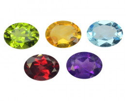 Citrine 6.47 Cts 5 Pcs Mix Color Natural Gemstones