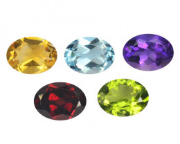 *NoReserve* Citrine 6.51 Cts 5 Pcs Fancy Mix Color Natural Gemstones