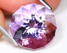 Amethyst 4.33Ct VVS Master Cut Natural Bolivian Purple Amethyst A2712