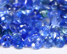 3.45Ct Calibrate 2.2mm Round Natural Blue Color Sapphire Lot A0302