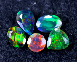 4.03cts Natural Ethiopian Smoked Faceted Welo Opal Lots / MA1034