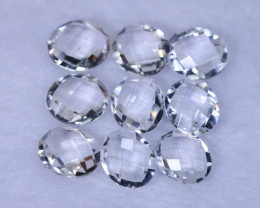 CheckerBoard Cut 33.15cts Natural White Topaz Lots / MA1038