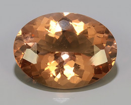 25.75 Cts Exclusive Lustrous Peach Oval Morganite Beauiful Color Brazil!