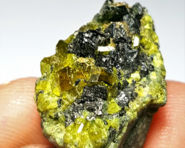 Amazing Natural color Damage free Manganite with  Lovely Epidote 57Cts-A
