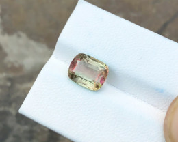 2.60 Ct Natural Bi Color Transparent Tourmaline Gemstone