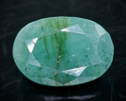 4.19 Crt Natural Emerald  Faceted Gemstone.( AB 73)