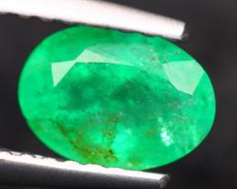 0.90Ct Natural Zambia Green Emerald Oval Cut Lot LZ7353