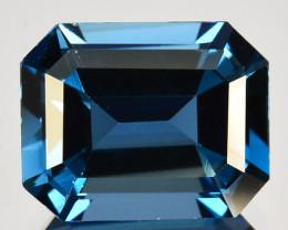 ~EMERALD CUT~ 3.25 Cts Beautiful Natural London Blue Topaz Brazil