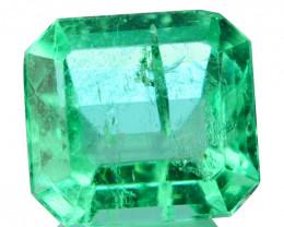 Natural Vivid Green Emerald Octagon Cut Colombia 0.26 Cts
