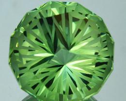 ~CUSTOM CUT~ 13.05 Cts Natural Green Prasiolite / Amethyst Round Fancy Braz