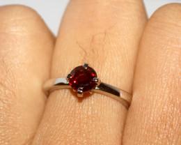 Natural Garnet 925 Silver Ring 377