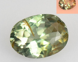 Alexandrite 0.21 Cts Amazing Rare Color Change Green To Orange Natural